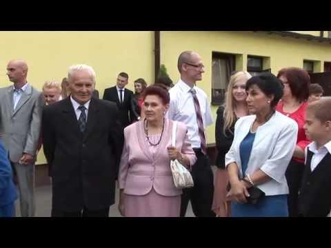 Powitanie przed salą weselną