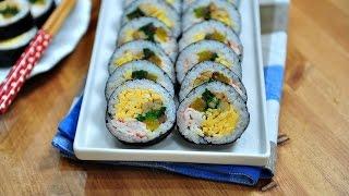 getlinkyoutube.com-전국3대김밥,간단재료로 교리김밥 만들기(To make gimbap,꼬마츄츄)