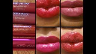 getlinkyoutube.com-NEW Revlon Colorburst Matte & Laquer Lip Balms First Impression