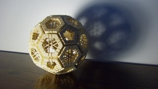 getlinkyoutube.com-Geodesic sphere puzzle (truncated icosahedron)