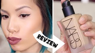 getlinkyoutube.com-NEW NARS All Day Luminious Weightless Foundation → REVIEW
