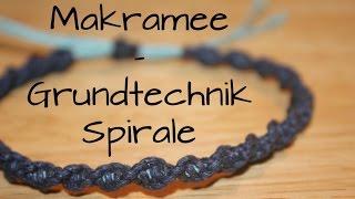 getlinkyoutube.com-Makramee: Grundtechnik Spirale