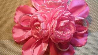 getlinkyoutube.com-Заколка- резинка для волос своими руками. / DIY Flowers