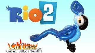 getlinkyoutube.com-How to Make Blu from Rio 2 Balloon Animal  | ChiTwist Chicago Balloon Twisting