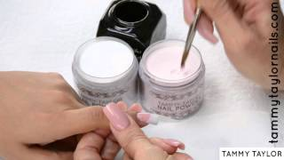 getlinkyoutube.com-♡ Tammy Taylor FAST, EASY PINK & WHITE NAIL EXTENSION