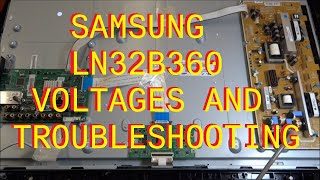 getlinkyoutube.com-Samsung LN32B360 Voltages and Troubleshooting