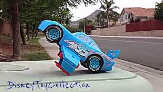 getlinkyoutube.com-Disney Pixar Car Big Lightning McQueen Dinoco King by DisneyToyCollection