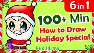 getlinkyoutube.com-How to Draw Easy - Step by Step ★ Christmas Cartoon Drawings ★ Compilation