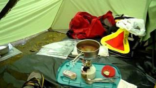 getlinkyoutube.com-MSR Hubba, Rainy Day Camping