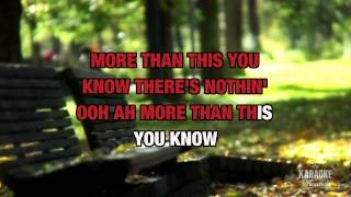 More Than This in the style of 10,000 Maniacs   Karaoke with Lyrics