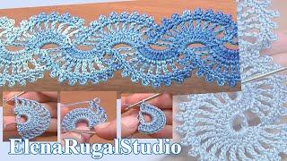 getlinkyoutube.com-How to Crochet Lace Tape Урок 5 часть 1 из 2 Лента в технике ленточного кружева