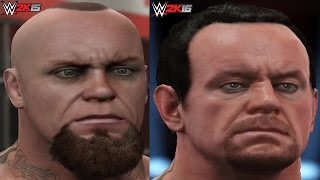 getlinkyoutube.com-WWE 2K16 vs WWE 2K15 Superstar Face Comparison 3 (The Undertaker, Dean Ambrose, Randy Orton &  More)
