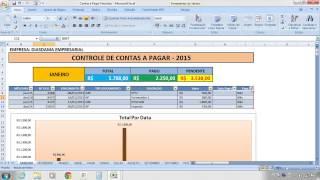 getlinkyoutube.com-Contas a Pagar e Receber  - Planilha de Contas a Pagar e Receber em Excel