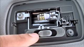 getlinkyoutube.com-DIY 2013 2014 2015 Honda Accord  Coupe Interior License Plate and Reverse LED Swap
