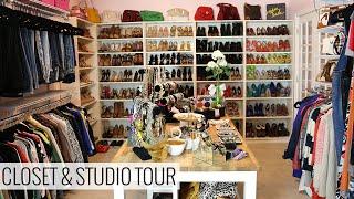 getlinkyoutube.com-My Closet and Studio Tour