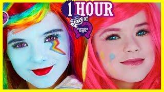 getlinkyoutube.com-1 HOUR My Little Pony Makeup Tutorials & Play Doh! Rainbow Dash Equestria Girl Doll | Kittiesmama