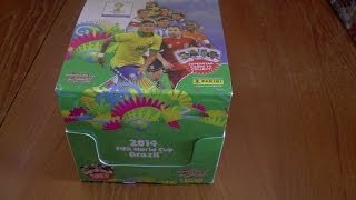 getlinkyoutube.com-UNBOXING BOOSTER BOX (70 packs!) ADRENALYN XL 2014 FIFA WORLD CUP trading cards panini