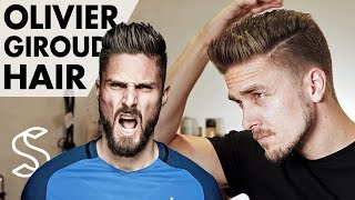 getlinkyoutube.com-Olivier Giroud Hairstyle ★ Arsenal Footballer ★ Short Men Hair Barber