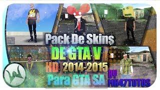 getlinkyoutube.com-★PACK DE SKINS DE GTA V ONLINE Y PERSONALIZADOS PARA GTA SA 2015 ★