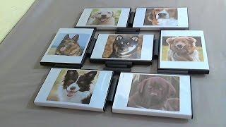 getlinkyoutube.com-DIY  Painel de fotografias reciclando capas de DVDs e rolinhos de bobina do cupom fiscal