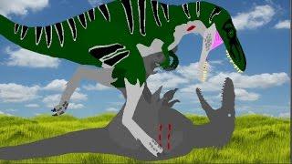 getlinkyoutube.com-DPB - Utahraptor vs Nanotyrannus [Dach DLT]
