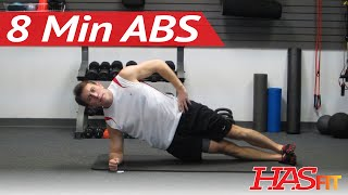 Shredding 8 Minute Abs Workout w/ Coach Kozak - 8 Min Abdominal Exercises - Abs and Obliques at Home