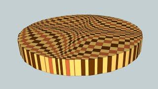 "getlinkyoutube.com-Making a round ""Wave"" 3D end grain cutting board"