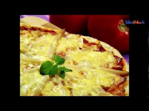 Pizza z szynką i szparagami