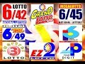 MARCH 14, 2015 PCSO LOTTO DRAW RESULTS SATURDAY