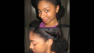 getlinkyoutube.com-Quick Natural Hair Style!: Pompadour Twist Back
