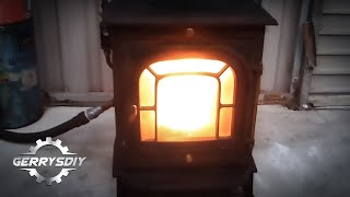 getlinkyoutube.com-Amazing and Easy...Convert your Stove to burn waste oil
