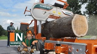 getlinkyoutube.com-Norwood LumberPro HD36 Portable Band Sawmill - Manual or Hydraulic ... It's Your Choice!