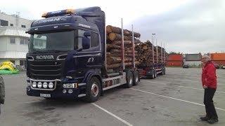 getlinkyoutube.com-Scania Streamline V8 R580 Timber Truck