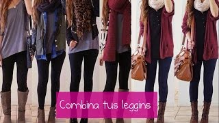 getlinkyoutube.com-COMO COMBINAR LEGGINS ♡