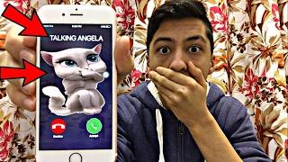getlinkyoutube.com-TALKING ANGELA CALLED ME AND I *ANSWERED OMG*