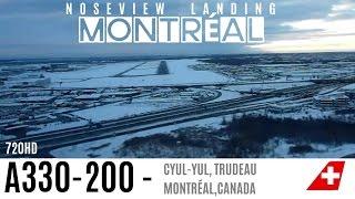 getlinkyoutube.com-Wonderful Winter landing at Montreal A330-200 Cockpit