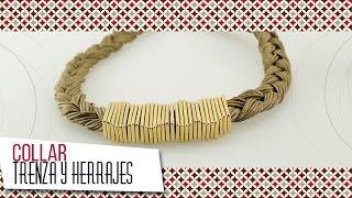 getlinkyoutube.com-Como hacer collar trenza en Wax Cord | VARIEDADES CAROL