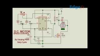 getlinkyoutube.com-DC motor speed controller circuit using PWM | Electrical Project