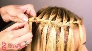 getlinkyoutube.com-Waterfall Braid Tutorial - Become Gorgeous
