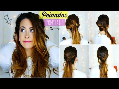 Peinados Fáciles y Rápidos para Diario/Escuela/Trabajo. Easy and quick Ponytails | Lizy P