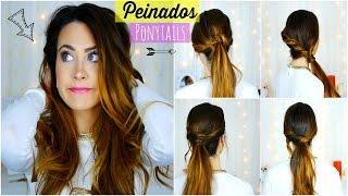 getlinkyoutube.com-Peinados Fáciles y Rápidos para Diario/Escuela/Trabajo. Easy and quick Ponytails | Lizy P