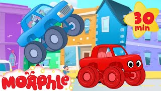getlinkyoutube.com-The Sticky Truck Chase With Morphle! Truck video for kids. (animation cartoon)