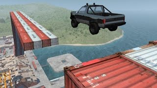 getlinkyoutube.com-BeamNG.drive - Port Stunts + Conquer The Mountain