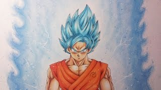 getlinkyoutube.com-Drawing Goku Super Saiyan Blue