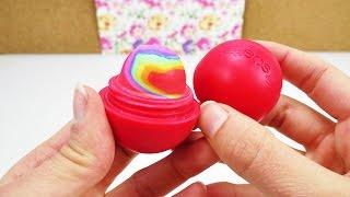 getlinkyoutube.com-EOS Lipbalm DIY Rainbow Radiergummi | Radierer mit Regenbogen Farben selber machen