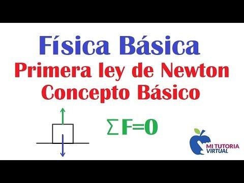 Primera Ley de Newton - Ley de la Inercia - Concepto General - Video 105