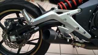 getlinkyoutube.com-Kawasaki ER6N M4 GP Exhaust