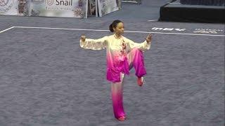 getlinkyoutube.com-13th World Wushu Championships, Women Taijiquan INA Lindswell 9.70