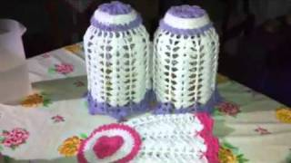 getlinkyoutube.com-Capas para vidros em croche