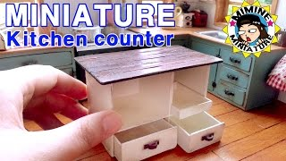 getlinkyoutube.com-미니어쳐 아일랜드 식탁 만들기 miniature - kitchen counter